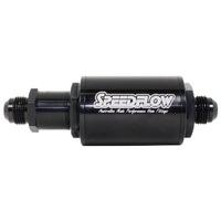 Speedflow 601 Short Series Fuel Filter with M12 x 1.5 Check Valve to -8 - Black