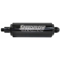 Speedflow Long Fuel Filter -8 Male to M12 x 1.5 Check Valve - Black