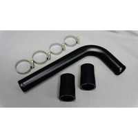 2JZGTE Powder Coated Top Radiator Hard Pipe kit - Black Joiners - Supra - JZA80