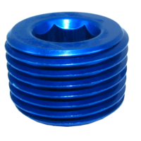Speedflow Socket Head Pipe Plug 1/4 NPT (also available in Black)