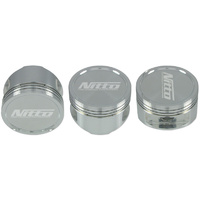 "MITSUBISHI 4G63 NITTO PISTONS - 86.0MM (+.040"") (22MM PIN - SUIT EVO 4 - 9 ROD) -10cc DISH"
