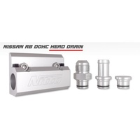 "NISSAN RB DOHC CYLINDER HEAD NITTO OIL DRAIN WITH 5/8"" HOSE FITTING"